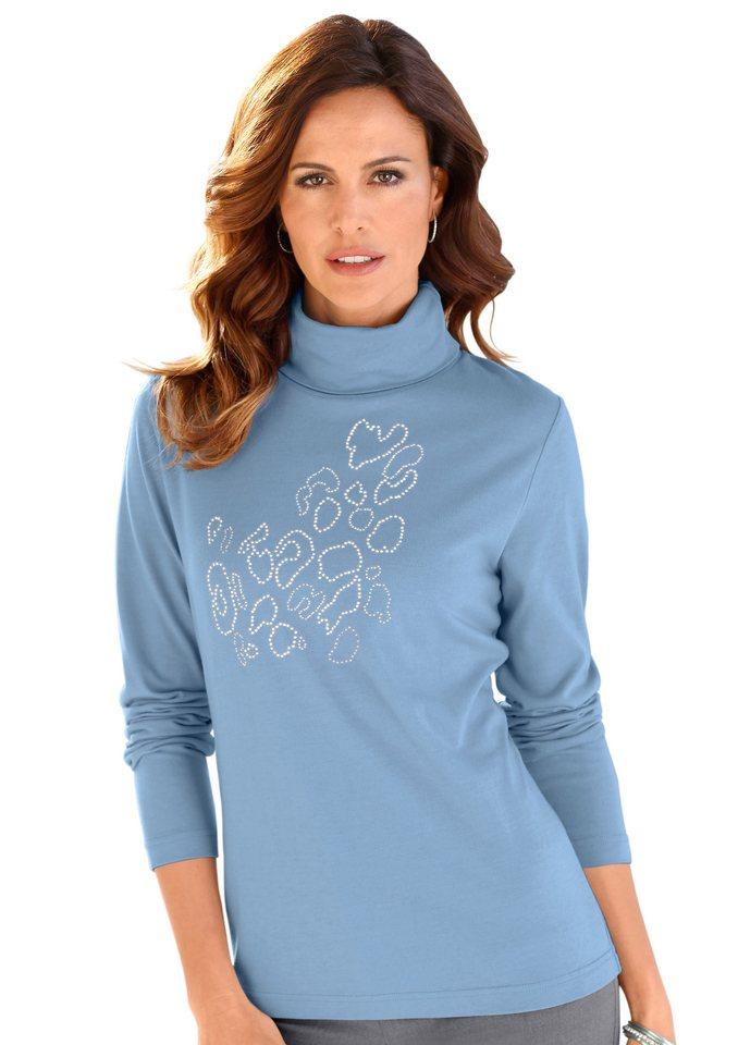 Alessa W. Shirt mit Metallplättchen in bleu