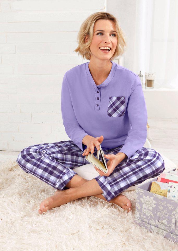 Schlafanzug, Rosalie in lila-kariert