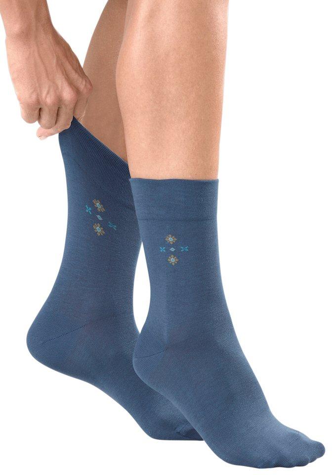 Damen-Socken, Rogo (2 Paar) in jeansblau