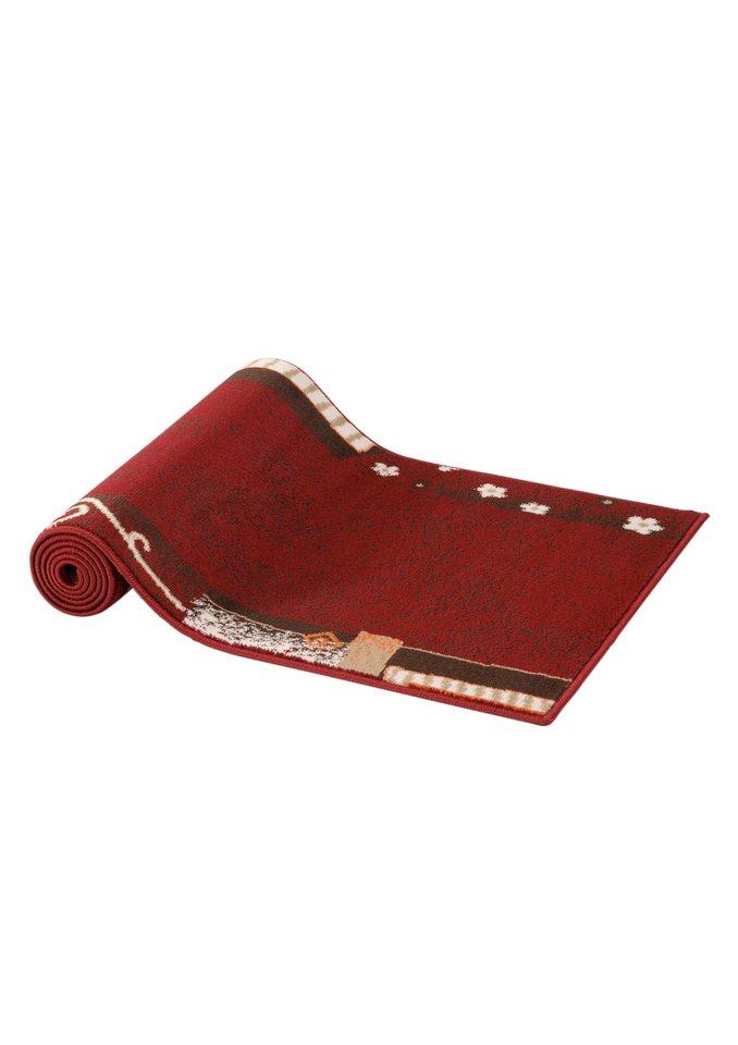 Läufer und Teppiche in rot