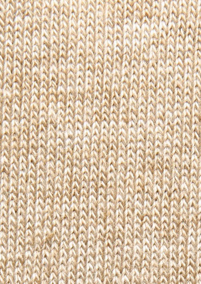 Socken, Freshnezz (4 Paar) in braun-beige