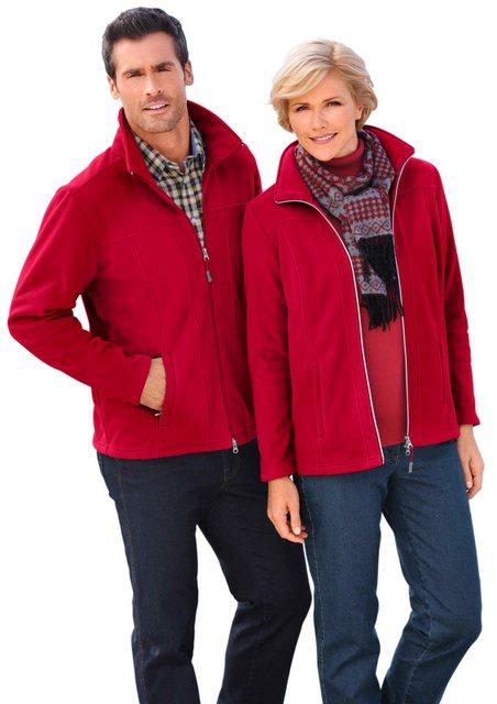 marco donati -  Fleece-Jacke mit Reißverschluss