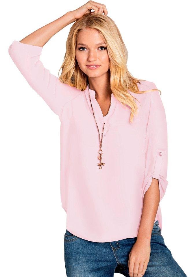 Ambria Bluse aus bügelarmer Crêpe-Qualität in rosa
