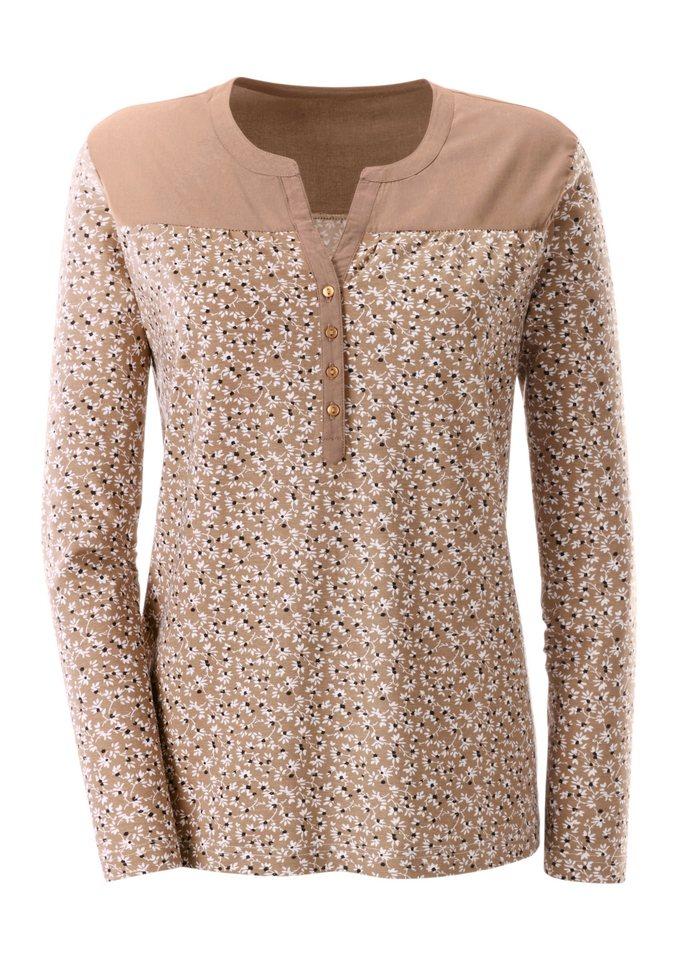 Ambria Shirt mit Knopfleiste in beige