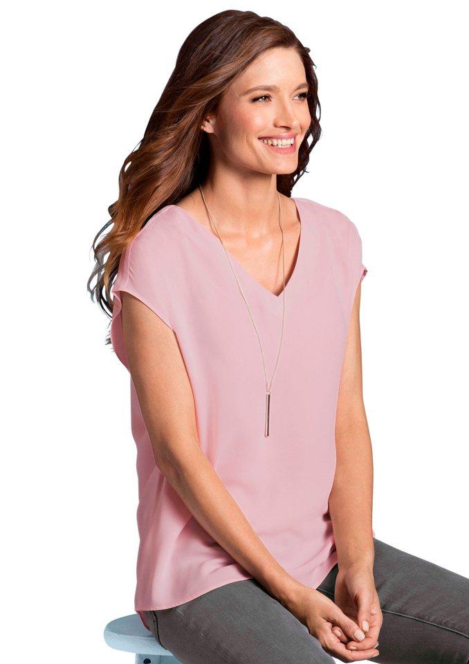 Classic Inspirationen Blusenshirt mit überschnittenen Schultern in rosé