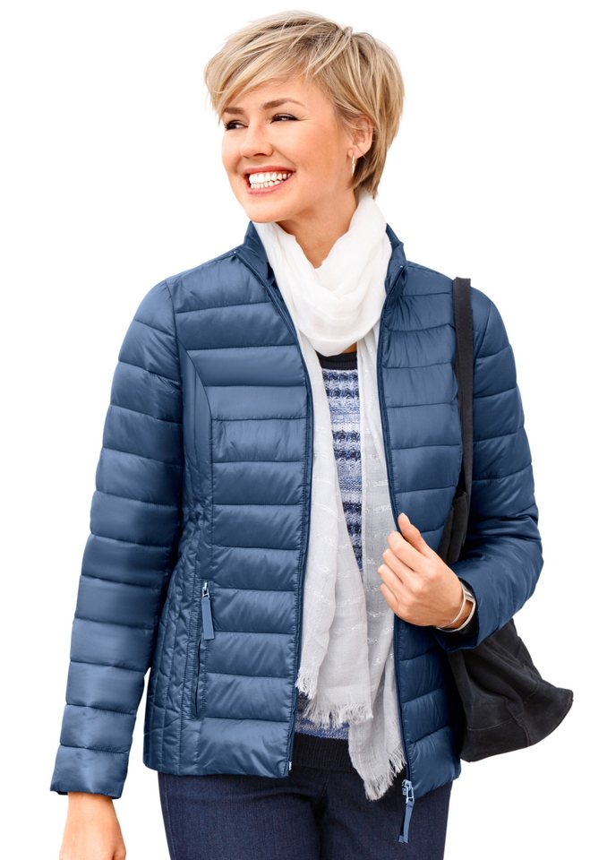 Collection L. Jacke mit figurfreundlichem Steppmuster in jeansblau