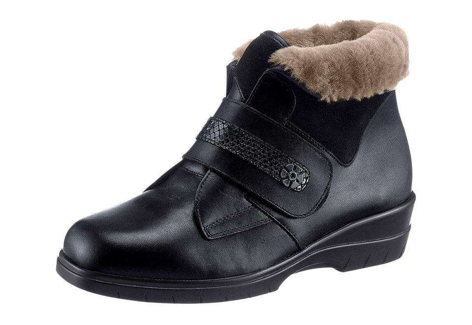 Franken Schuhe Stiefelette mit Umschlag am Schaft in schwarz