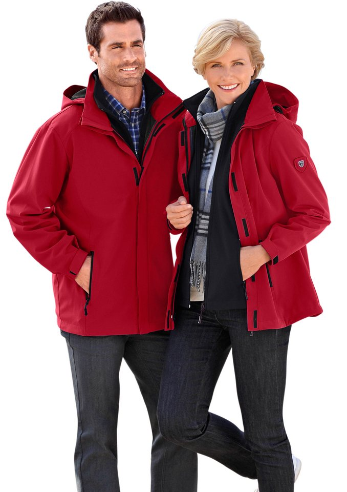 Marco Donati Jacke in Softshell-Qualität in rot
