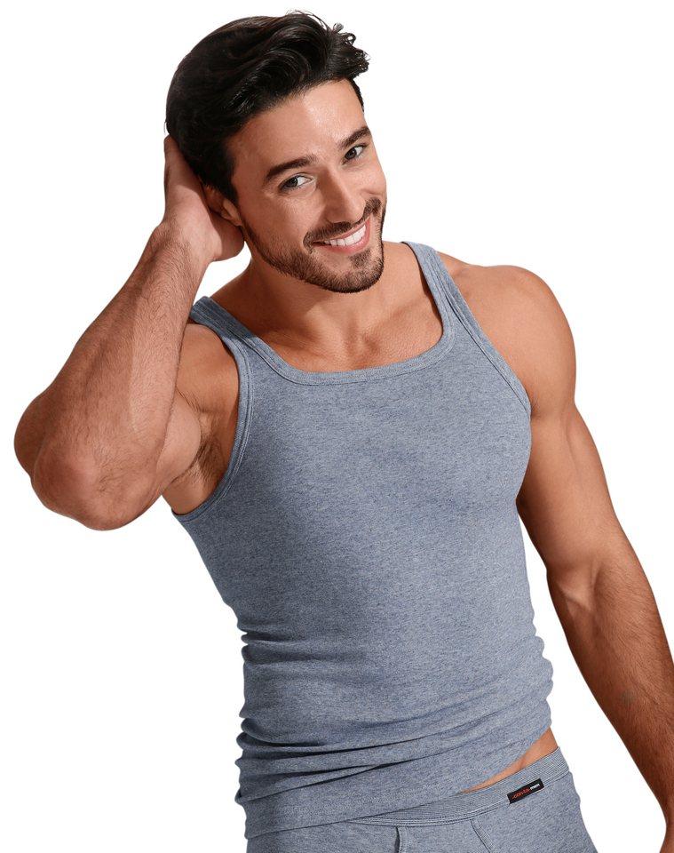 Unterhemd, Con-Ta in jeansblau-meliert