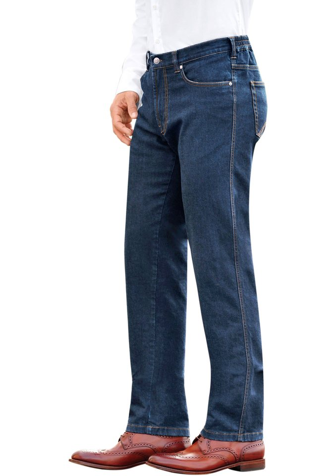 Brühl Jeans in klassischer Five-Pocket-Form in blue-stone-washed