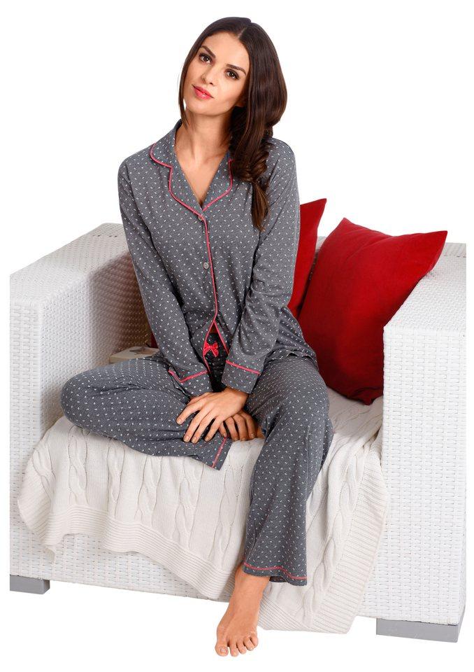 Pyjama, Saraboni in grau-gemustert
