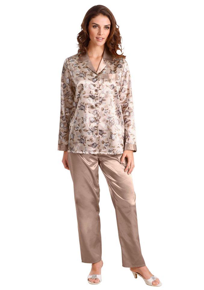 Pyjama, Rosalie in beige-taupe