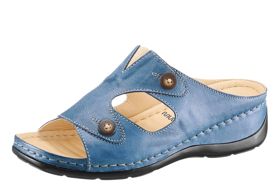 Gemini Pantolette mit Multiwell-Fußbett in blau