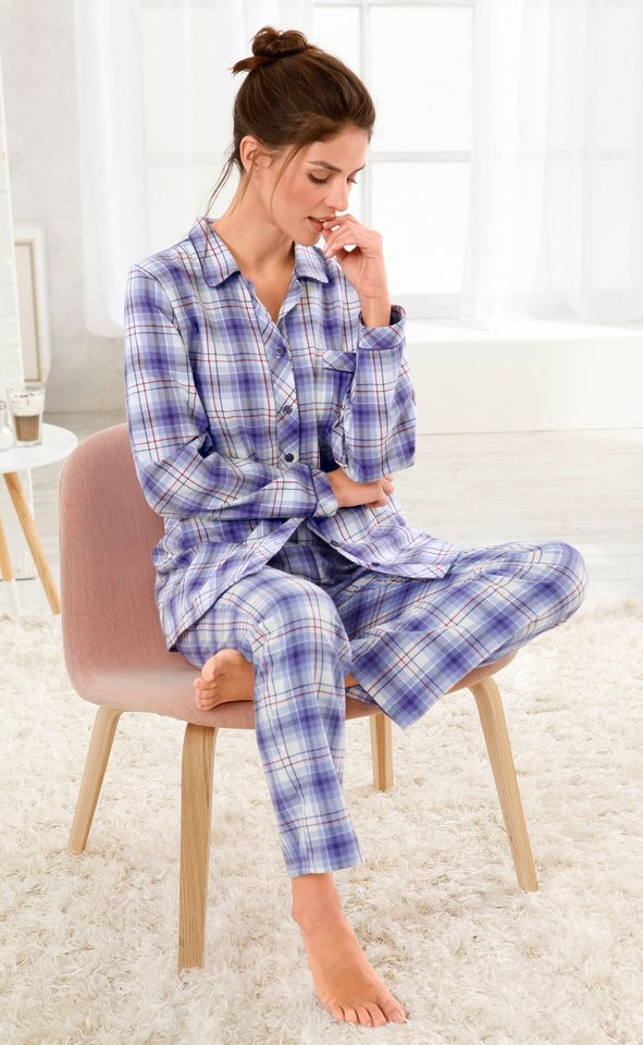 Pyjama, Comtessa, »night + day« in lila-kariert
