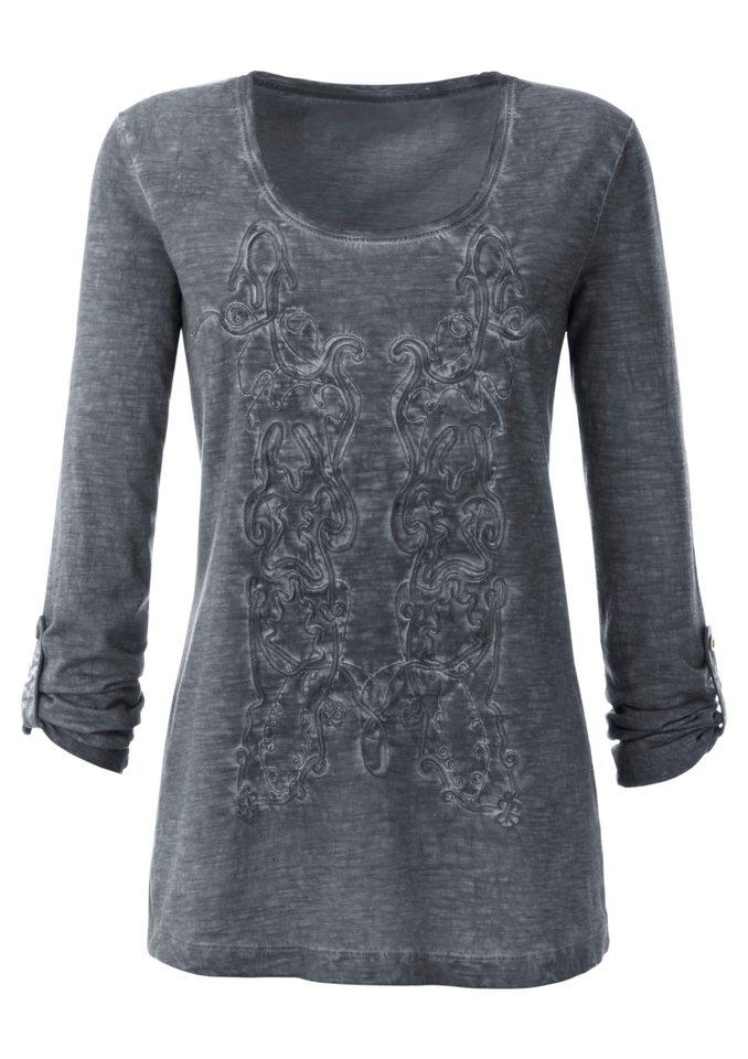 Ambria Shirt aus Flammgarn in grau