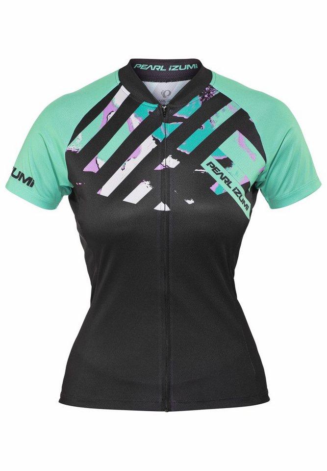 PEARL iZUMi Radtrikot »LTD MTB Jersey Women stripe viridian green« in schwarz