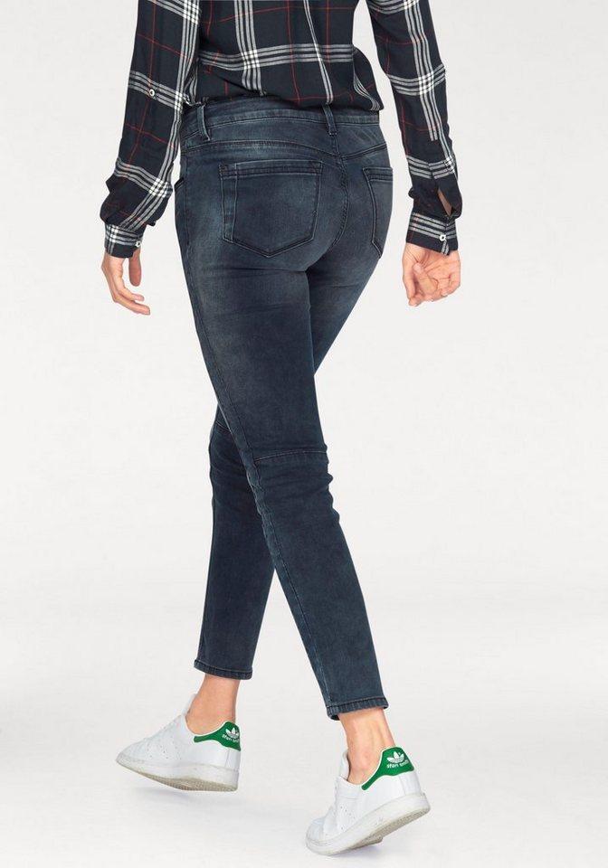 Tom Tailor Denim Skinny-fit-Jeans »Jona« im Biker Style in blue-black