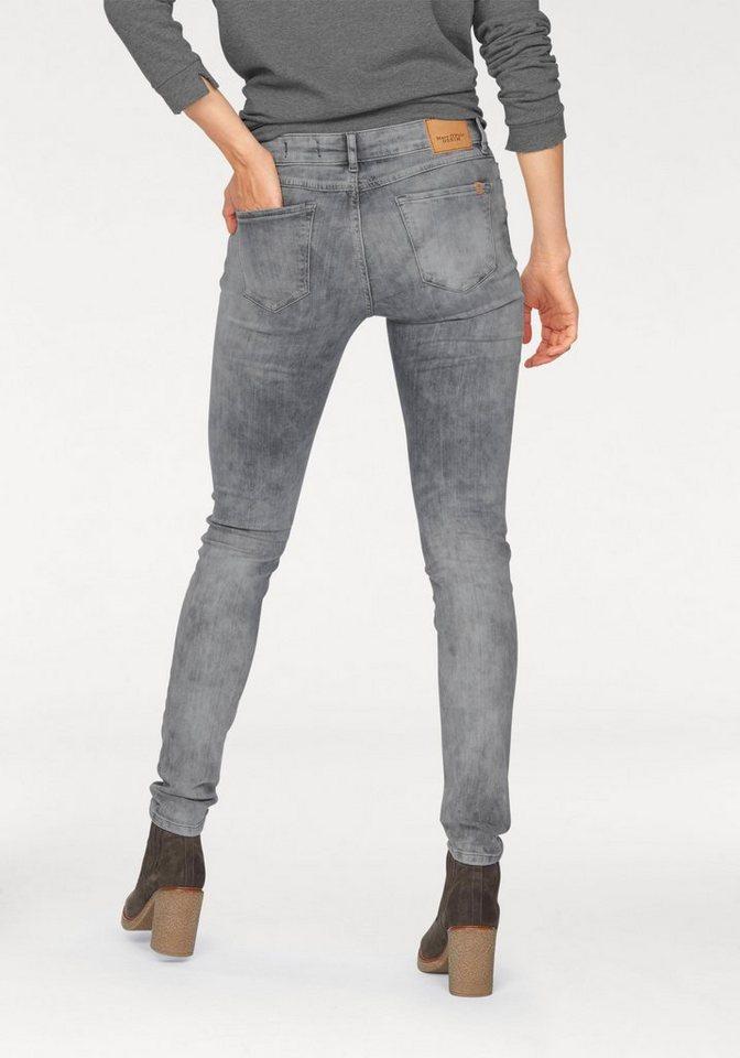 Marc O'Polo DENIM Skinny-fit-Jeans »Alva« mit Destroyed-Effekten in light
