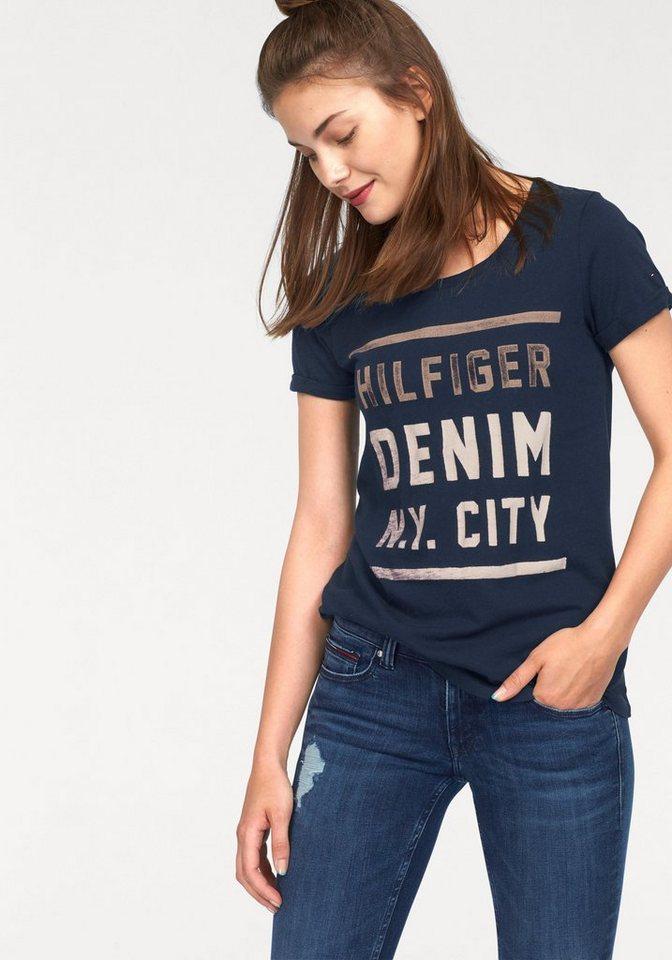 Hilfiger Denim T-Shirt mit Logo-Print in navy