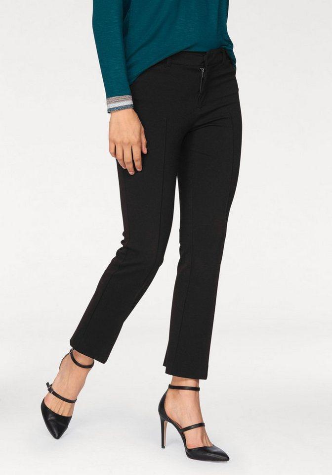Laura Scott 7/8-Hose in leicht ausgestellter, verkürzter Form in schwarz