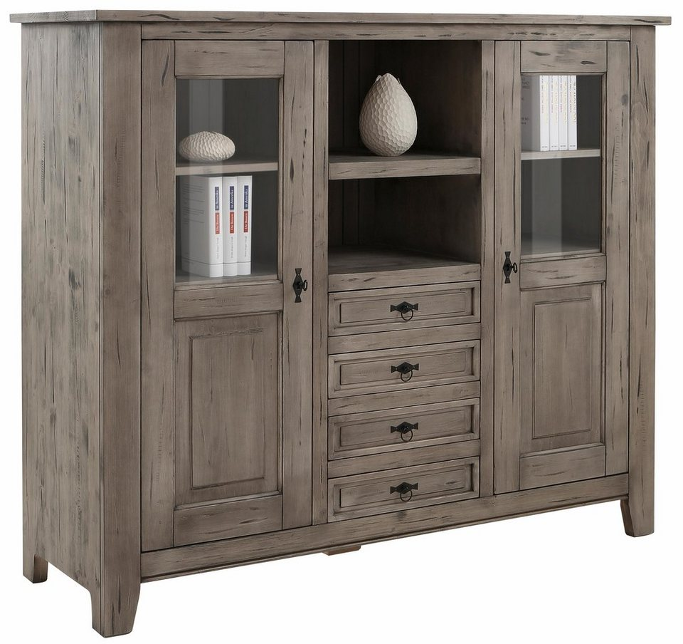 Favorit Highboard »Burgund«, Breite 167 cm in steingrau