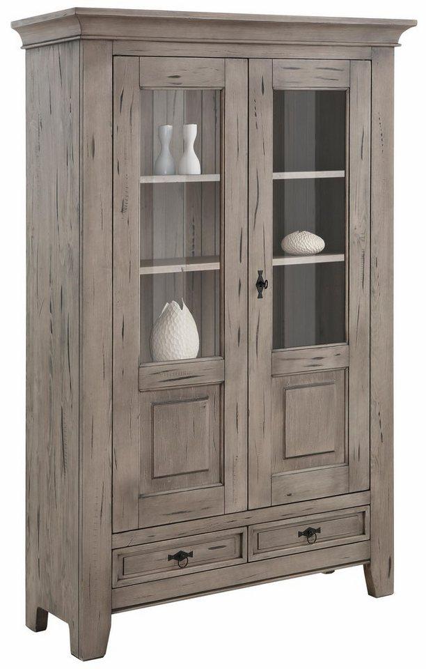 Premium collection by Home affaire Vitrine 2trg. »Burgund«, Höhe 175 cm in steingrau