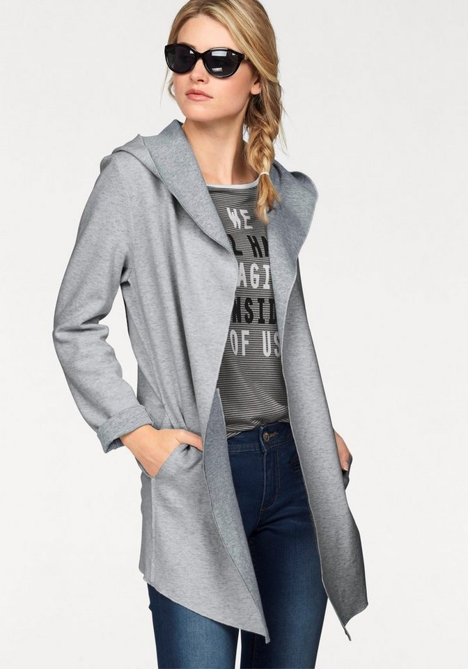 s.Oliver RED LABEL Sweatjacke aus kuscheligem Double-Face Sweat in grau