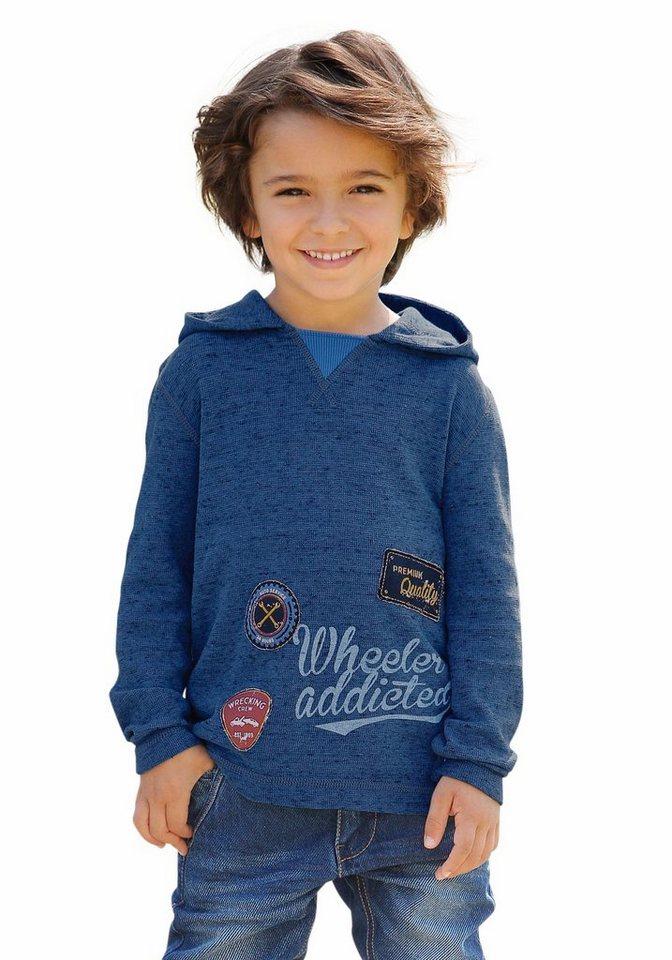 s.Oliver RED LABEL Junior Kapuzenshirt in blau-meliert