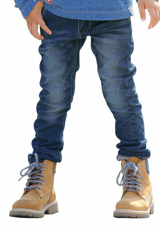 s.Oliver RED LABEL Junior Loose-fit-Jeans mit schmalem Bein in blue-denim