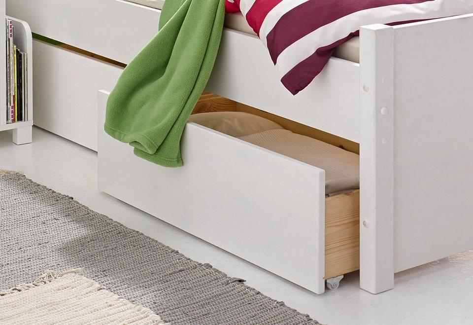 Bettschubkasten-Set (2tlg.) in weiß