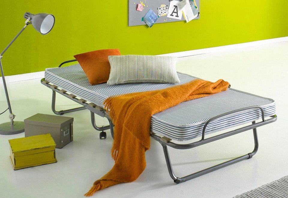 Gästebett in silberfarben