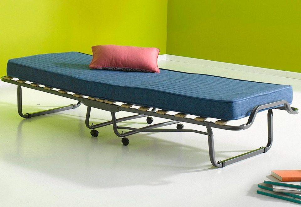 Gästebett inkl. Staubschutzhülle in silberfarben