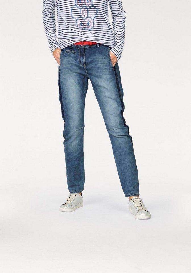 Sandwich Jogg Pants »Verona« aus elastischer Sweatware in blue-denim