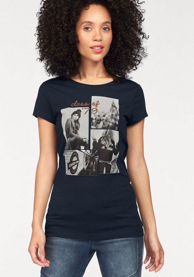 Tom Tailor Denim T-Shirt mit Frontprint in marine-bedruckt