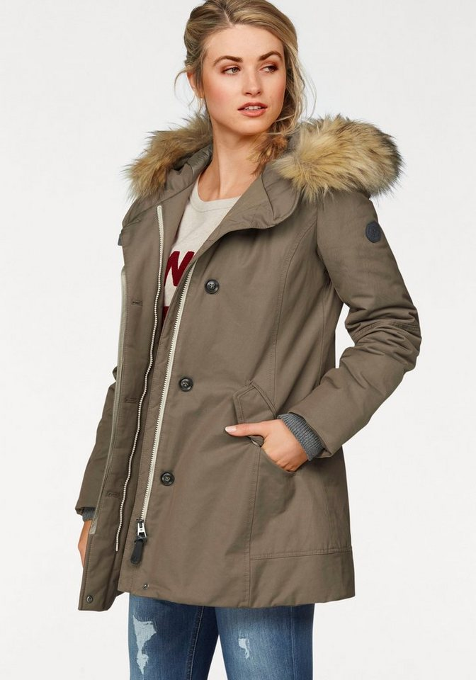 Marc O'Polo Langjacke Thermore Ecodown in khaki