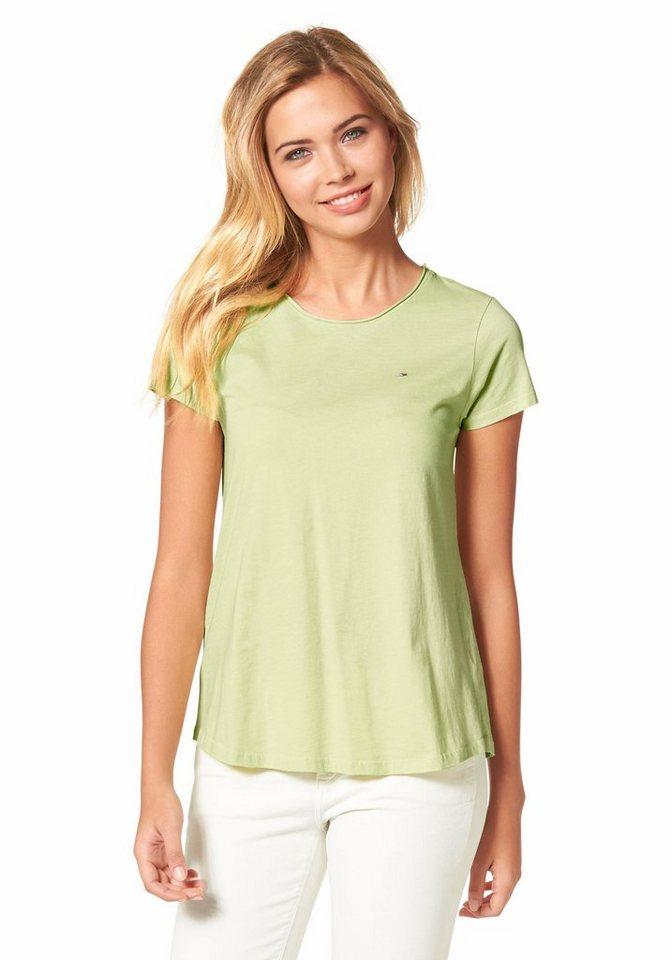 Hilfiger Denim T-Shirt »Kinda« Rollkante in lindgrün
