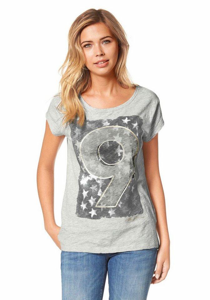 Hilfiger Denim T-Shirt »Iris« mit Frontprint in grau-meliert