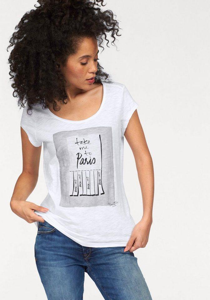 Marc O'Polo DENIM T-Shirt mit Frontprint in weiß