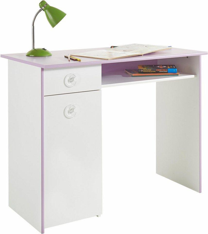 Parisot Schreibtisch »Mila« in weiß-lila