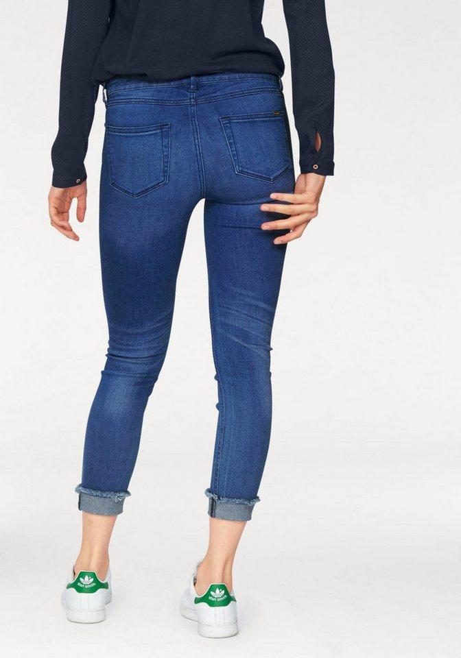 Tom Tailor Denim Skinny-fit-Jeans »Jona« mit modischem Aufschlag in blau