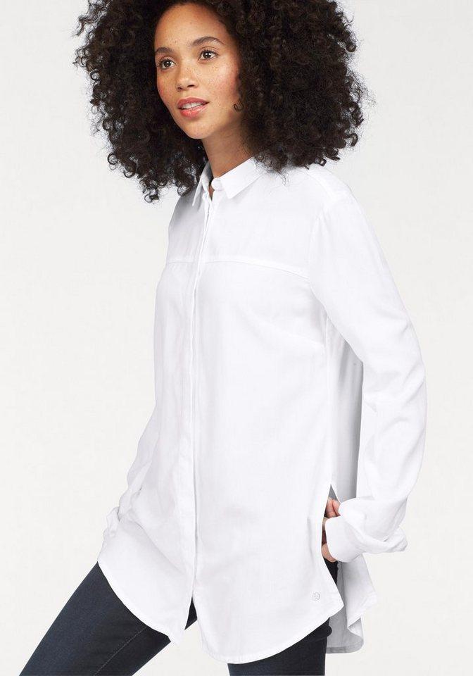 Bench Hemdbluse mit verdeckter Knopfleiste in weiß