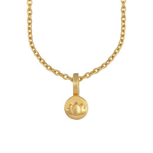 CAÏ Kette mit Anhänger »925/- Sterling Silber vergoldet Lotusblüte«