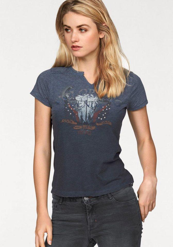 Colorado Denim T-Shirt Modisches T-Shirt mit Farbverlauf in blue-stone