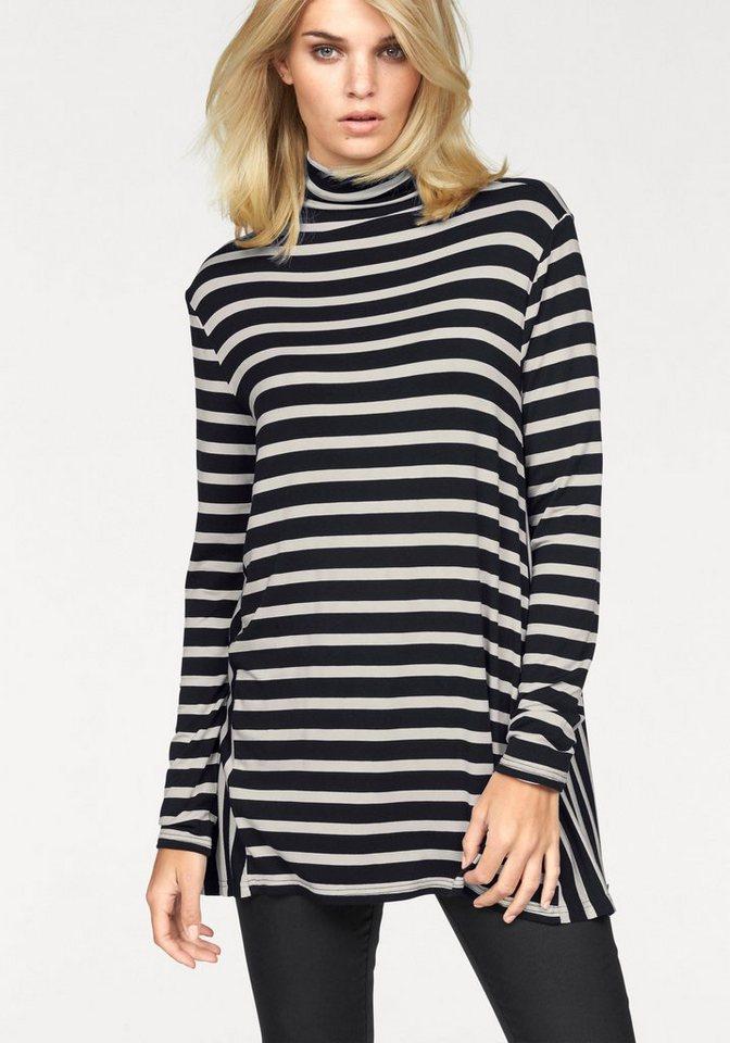 Laura Scott Langarmshirt in spannender Streifenoptik in weiß-schwarz-gestreift