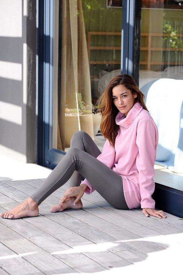 Bench Softe Homewear Leggins mit elastischem Bund in khaki