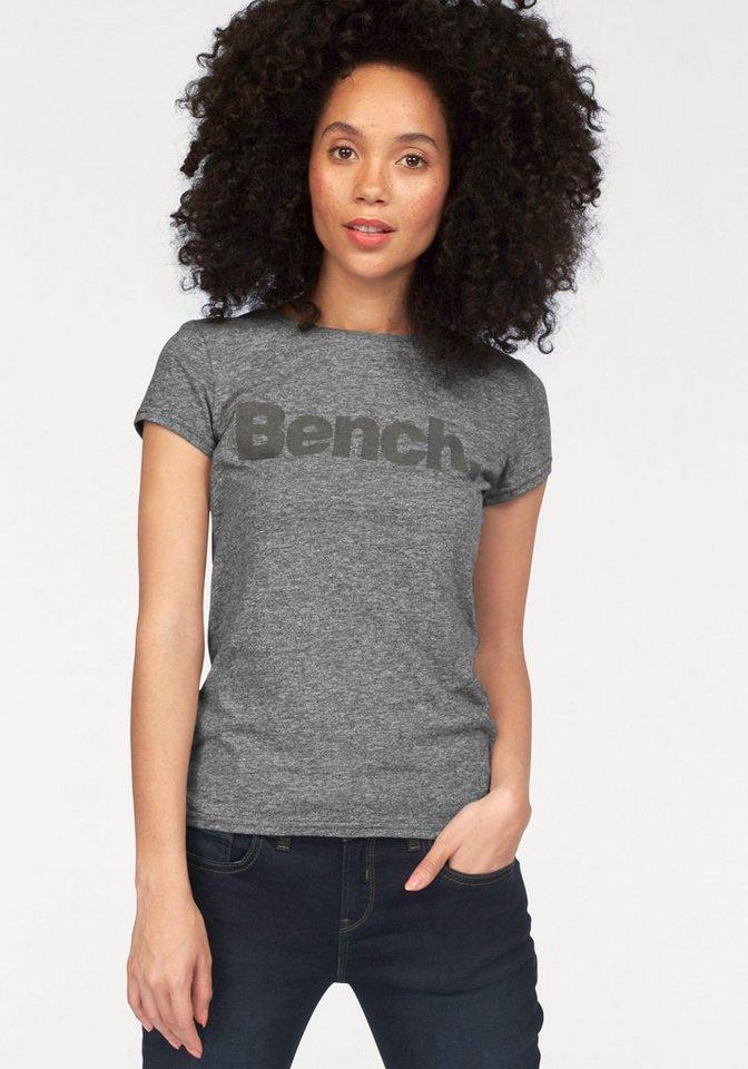 Bench T-Shirt mit Logo Frontdruck in schwarz-meliert