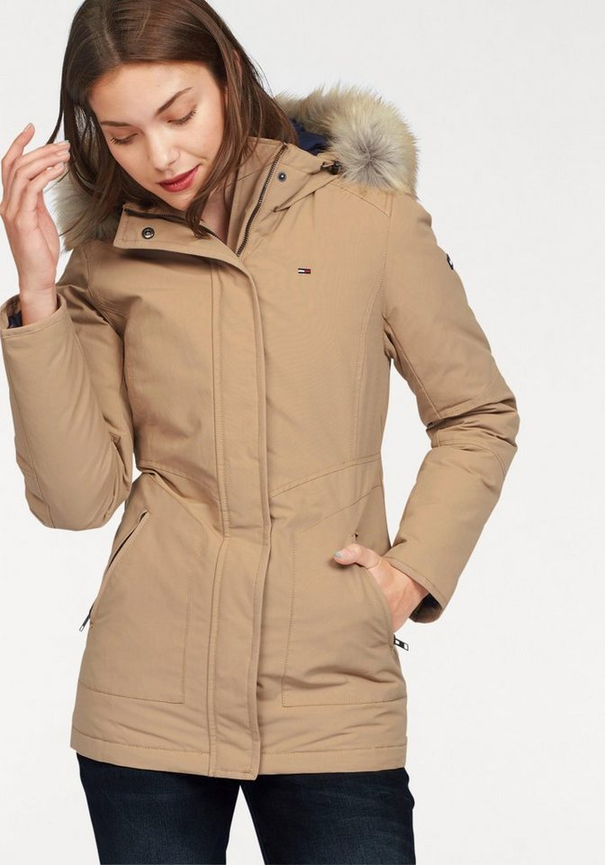 Hilfiger Denim Parka mit Fellimitat in beige