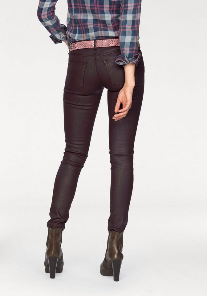 LTB Skinny-fit-Jeans »Mina« mit coating in bordeaux