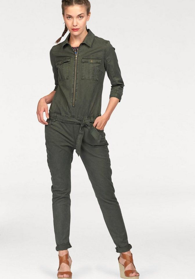 Q/S designed by Overall mit Stretch in khaki