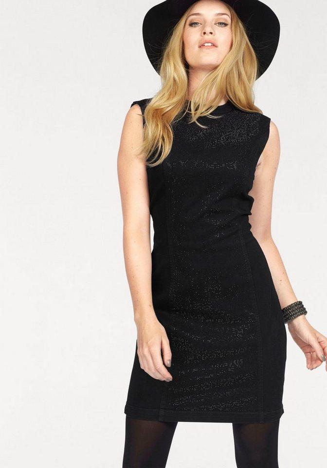 Vero Moda Jeanskleid »SHINE« mit Glitzersteinen und großem Rückenausschnitt in schwarz
